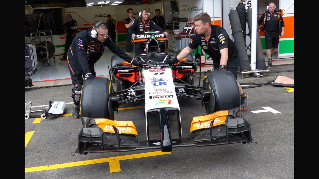 Force India - Formel 1 - GP Belgien - Spa-Francorchamps - 21. August 2014