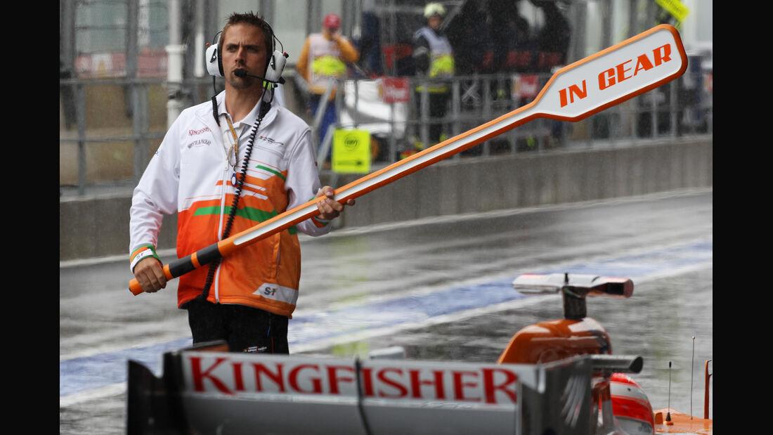 Force India - Formel 1 - GP Belgien - Spa-Francorchamps - 31. August 2012