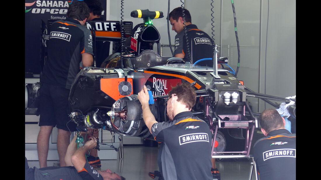 Force India - Formel 1 - GP Brasilien- 12. November 2015