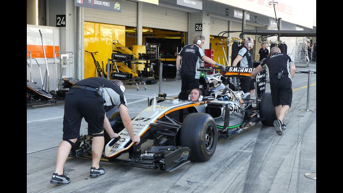 Force India - Formel 1 - GP Japan - Suzuka - Donnerstag - 6.10.2016