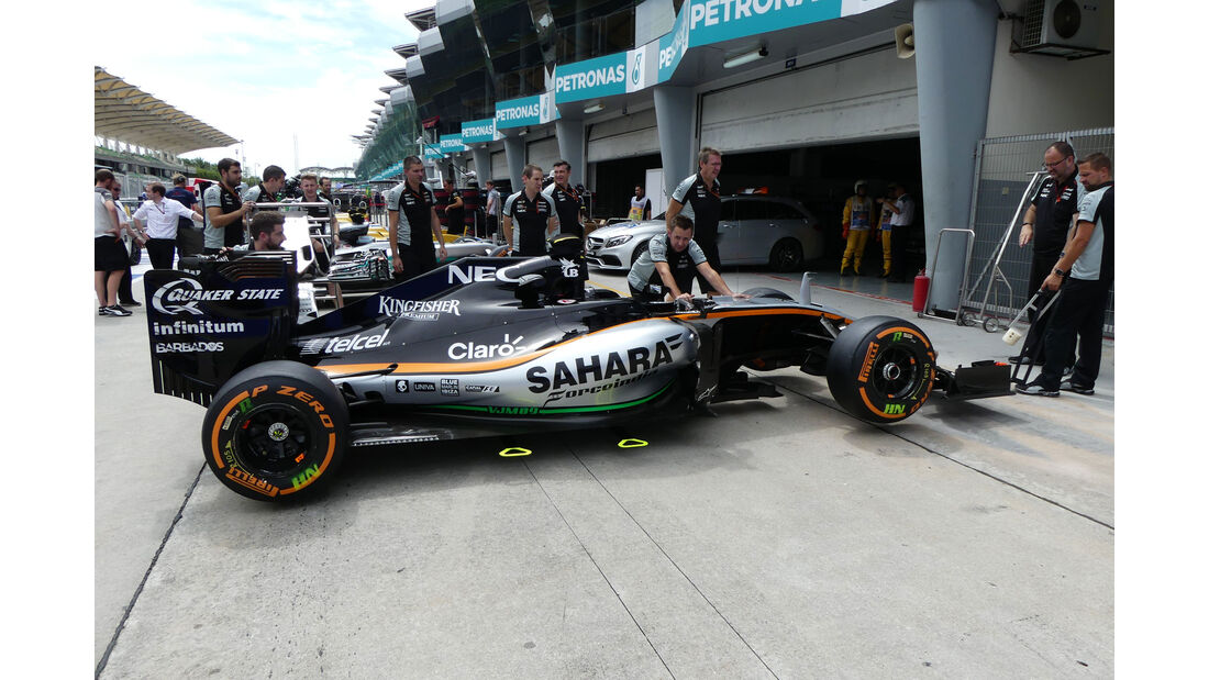 Force India - Formel 1 - GP Malaysia - Donnerstag - 29.9.2016