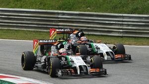 Force India - Formel 1 - GP Österreich 2014