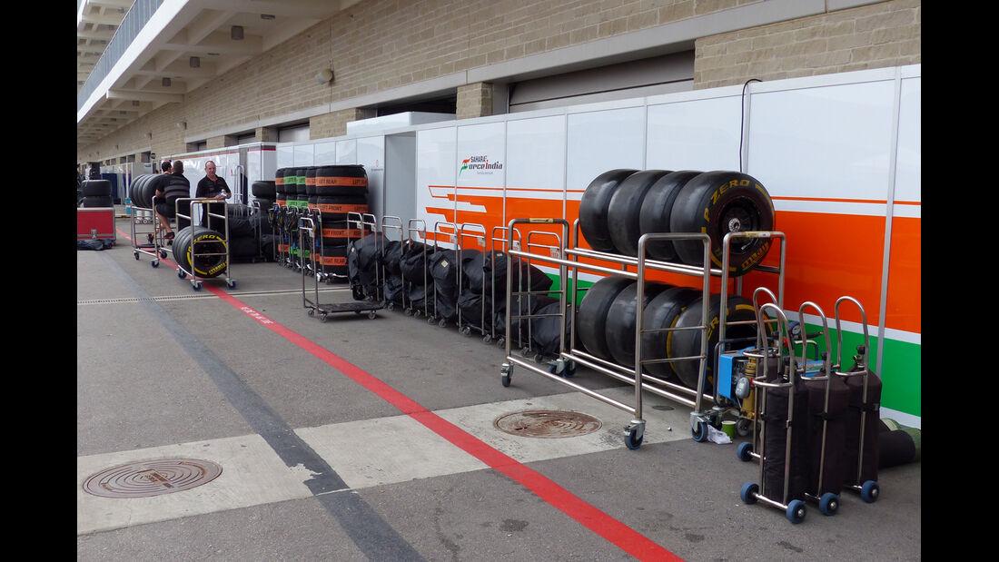 Force India - Formel 1 - GP USA - 29. Oktober 2014