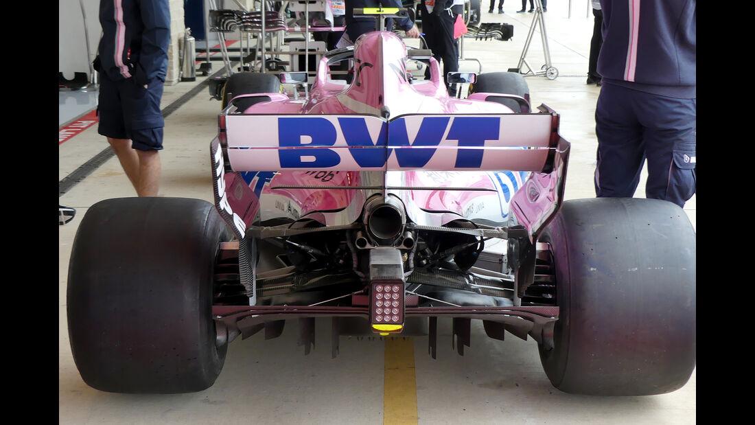 Force India - Formel 1 - GP USA - Austin - 18. Oktober 2018