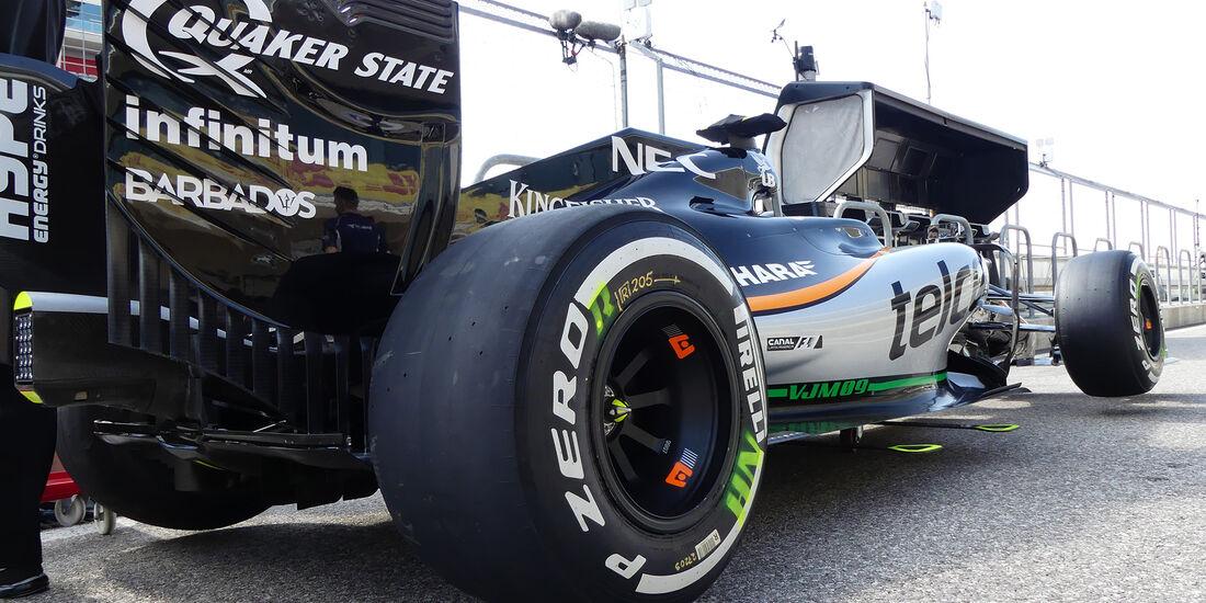 Force India - Formel 1 - GP USA - Austin - 20. Oktober 2016