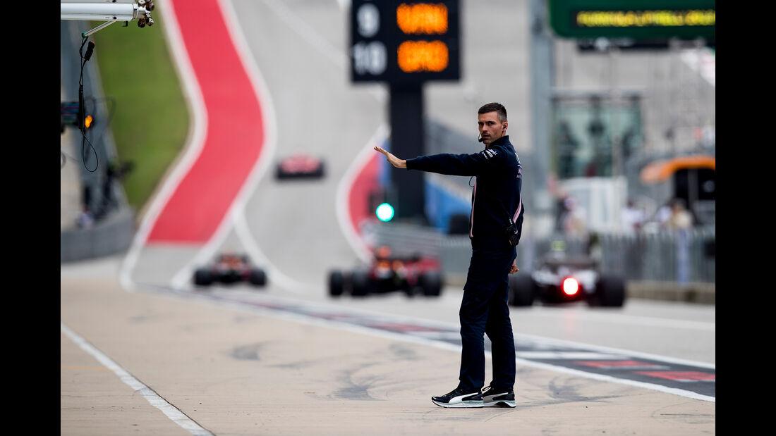 Force India - Formel 1 - GP USA - Austin - 20. Oktober 2018
