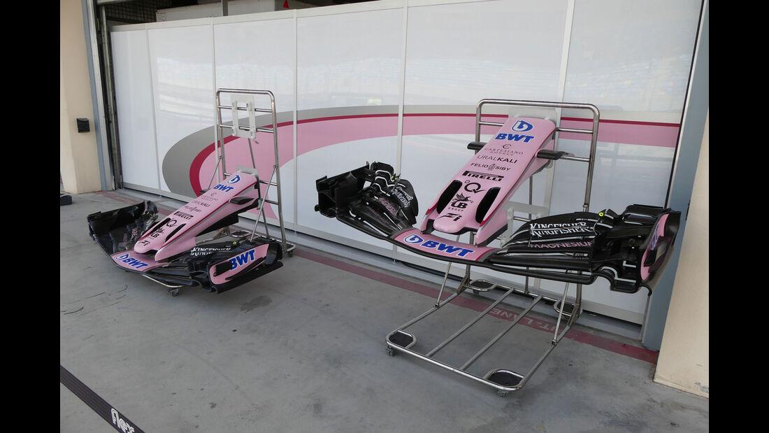 Force India - Formel 1 - Testfahrten - Bahrain International Circuit - Dienstag - 18.4.2017