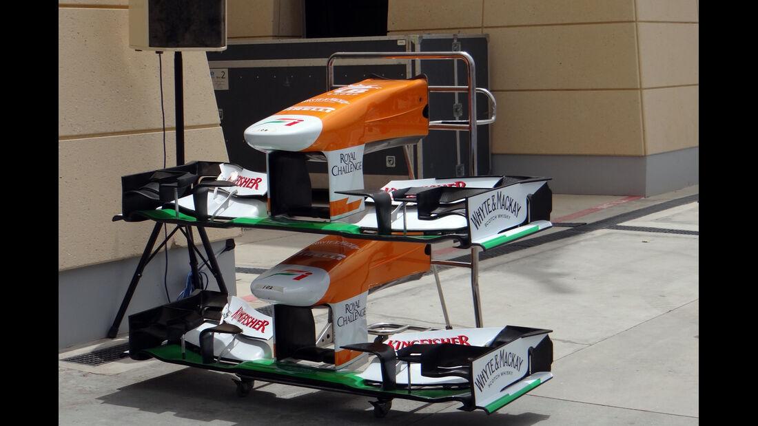 Force India Frontflügel - Formel 1 - GP Bahrain - 18. April 2013