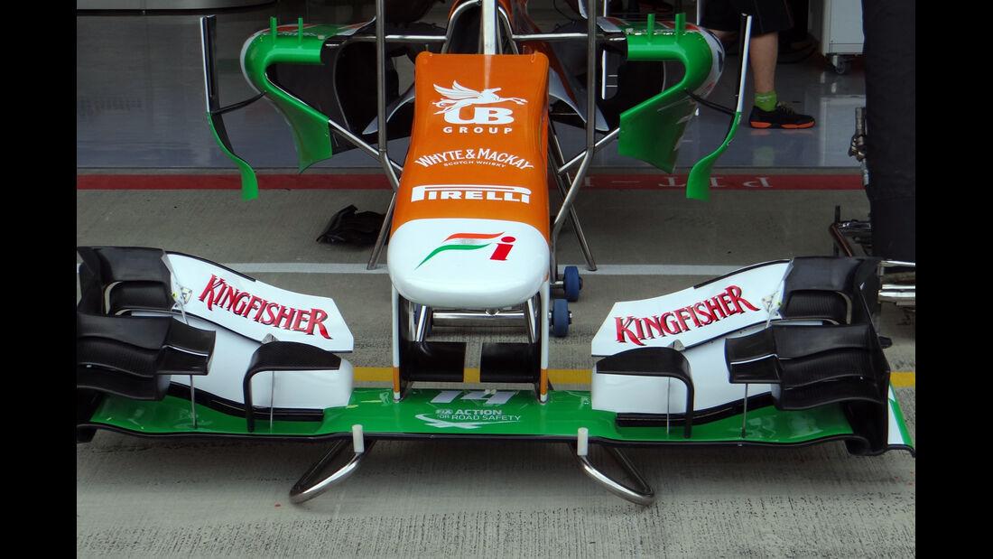 Force India Frontflügel - Formel 1 - GP England - 27. Juni 2013