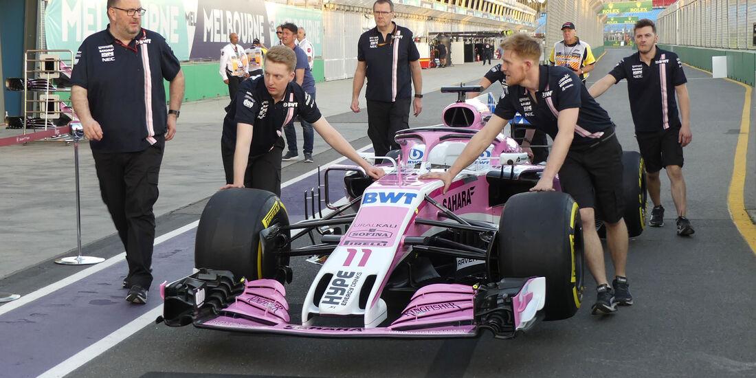 Force India - GP Australien 2018 - Melbourne - Albert Park - Donnerstag - 22.3.2018