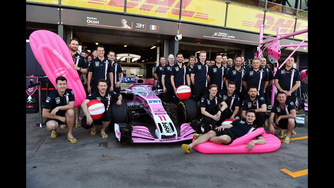 Force India - GP Australien 2018 - Melbourne - Albert Park - Freitag - 23.3.2018