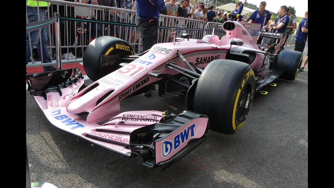 Force India - GP Belgien - Spa-Francorchamps - Formel 1 - 24. August 2017
