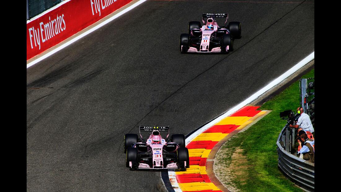 Force India - GP Belgien - Spa-Francorchamps - Formel 1 - 25. August 2017