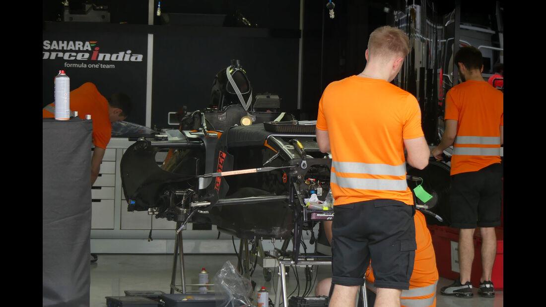 Force India - GP Brasilien 2016 - Sao Paulo - Interlagos - Mittwoch - 9.11.2016