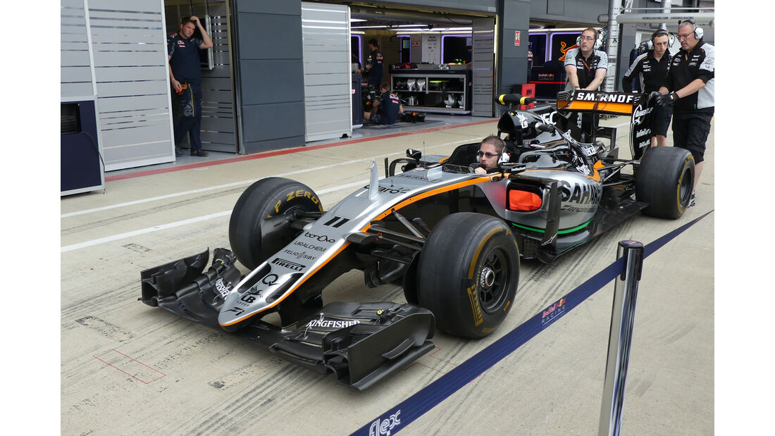 Force India - GP England - Silverstone - Formel 1 - Donnerstag - 7.7.2016