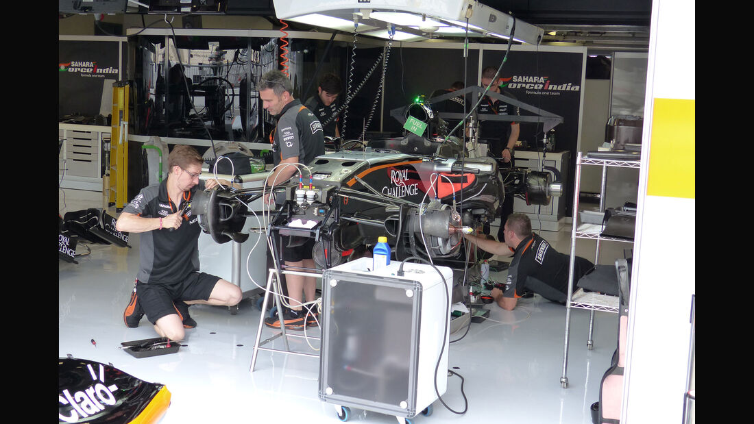 Force India - GP Italien - Monza - Donnerstag - 3.9.2015