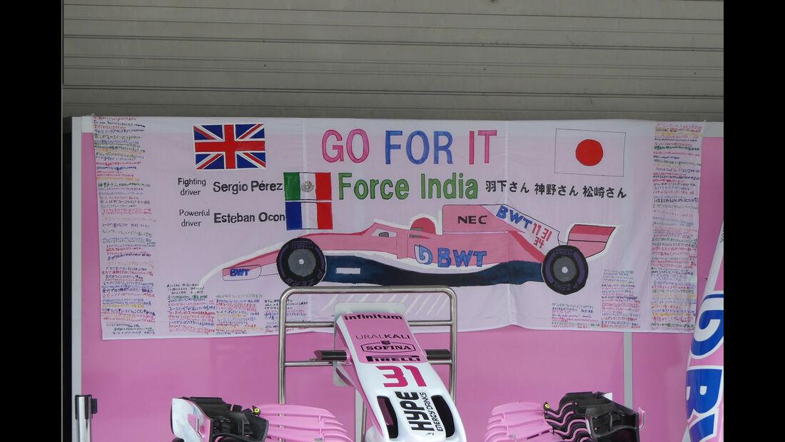 Force India - GP Japan - Suzuka - Donnerstag - 4.10.2018