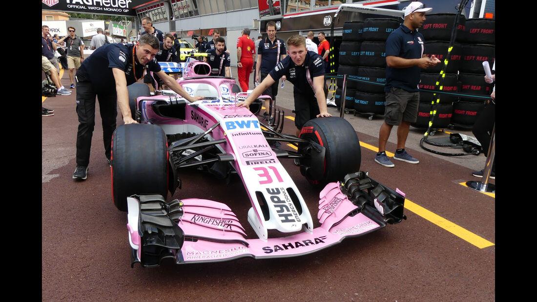 Force India - GP Monaco - Formel 1 - Mittwoch - 23.5.2018