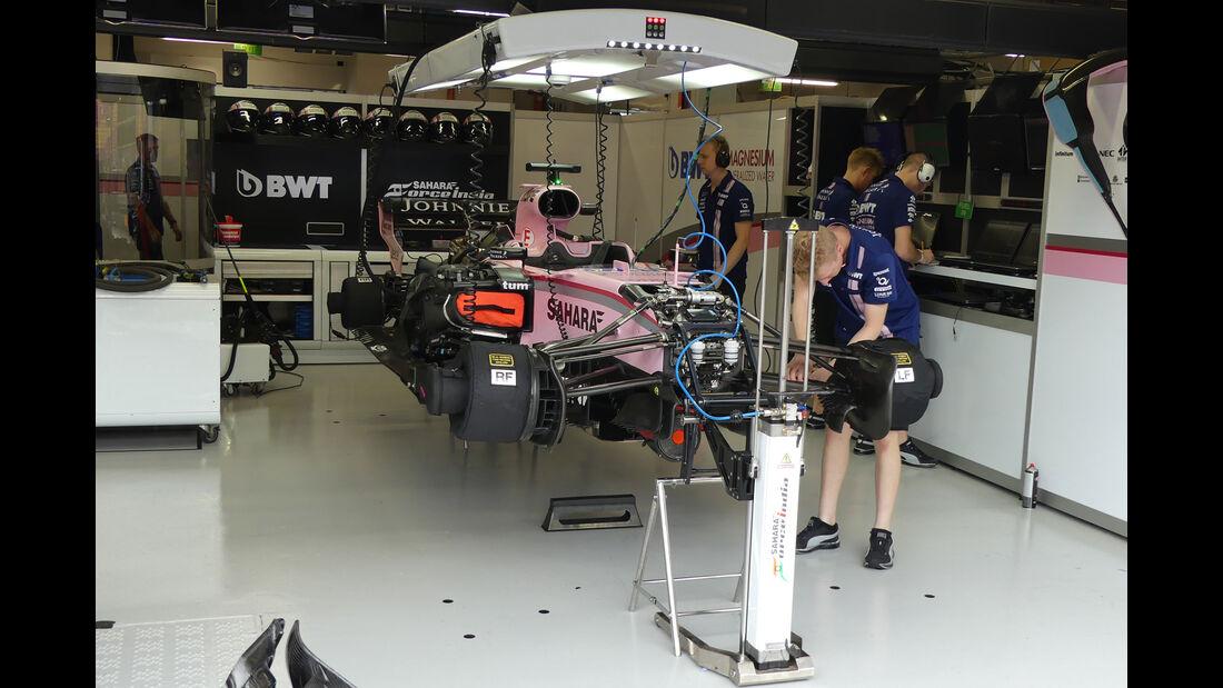Force India - GP Singapur - Formel 1 - Freitag - 15.9.2017