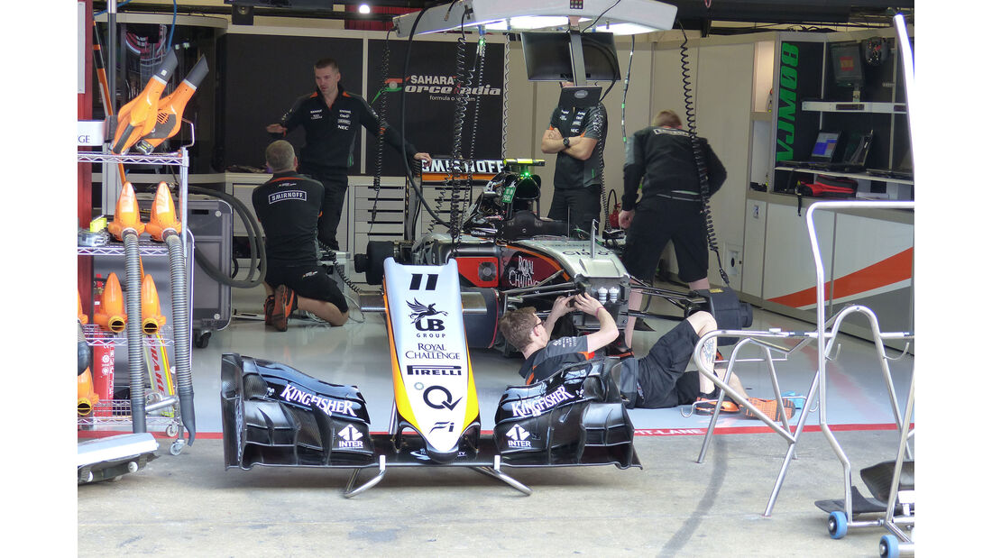 Force India - GP Spanien - Barcelona - Freitag - 8.5.2015