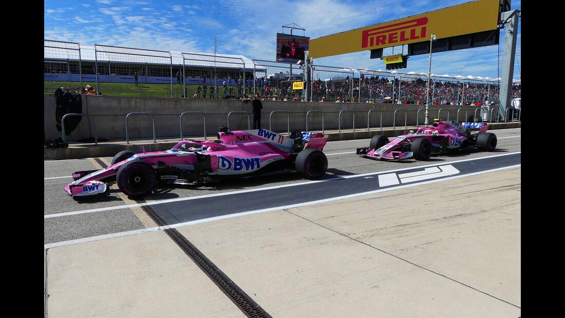 Force India - GP USA 2018