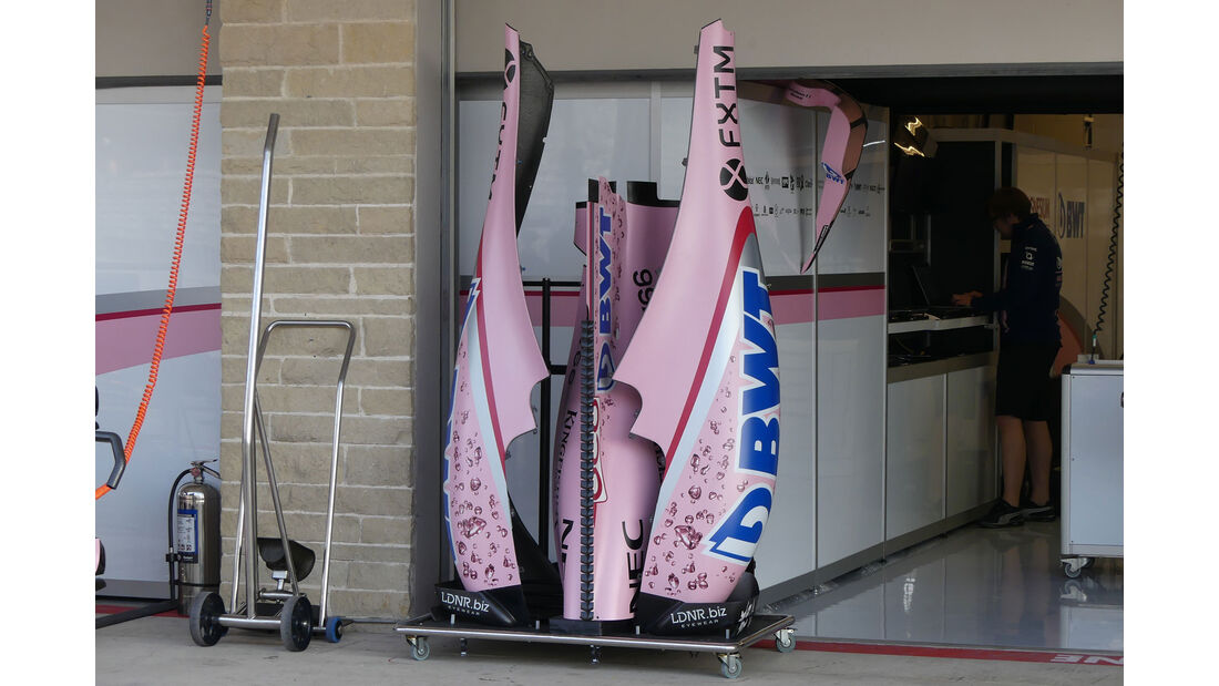 Force India - GP USA - Austin - Formel 1 - Donnerstag - 19.10.2017