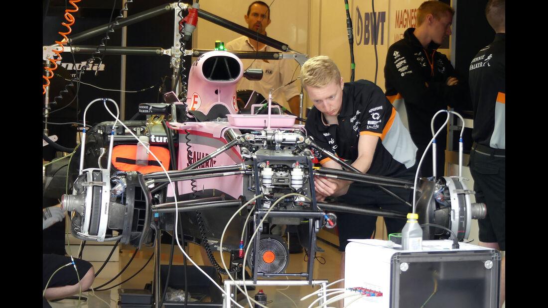 Force India - GP Ungarn 2017 - Budapest - Formel 1 - Donnerstag - 27.7.2017