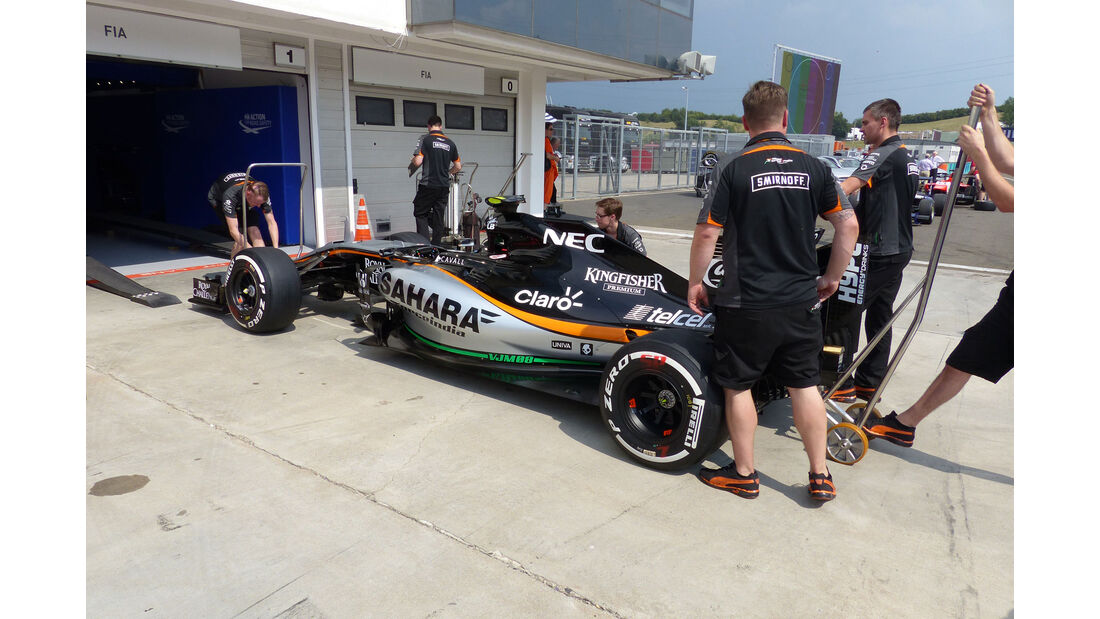 Force India - GP Ungarn - Budapest - Donnerstag - 23.7.2015