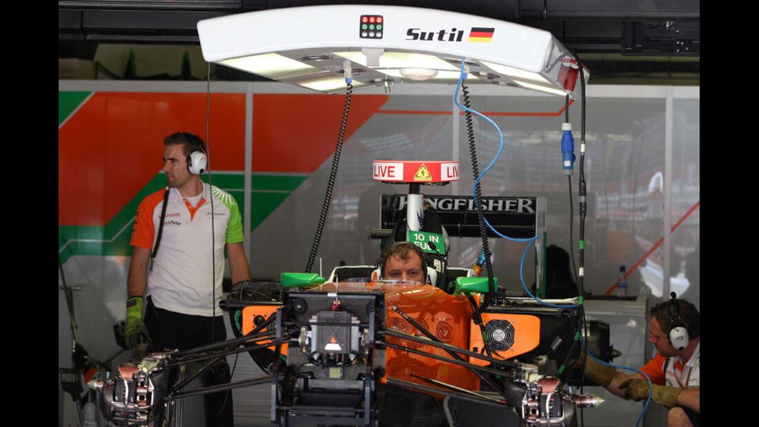 Force India-Garage
