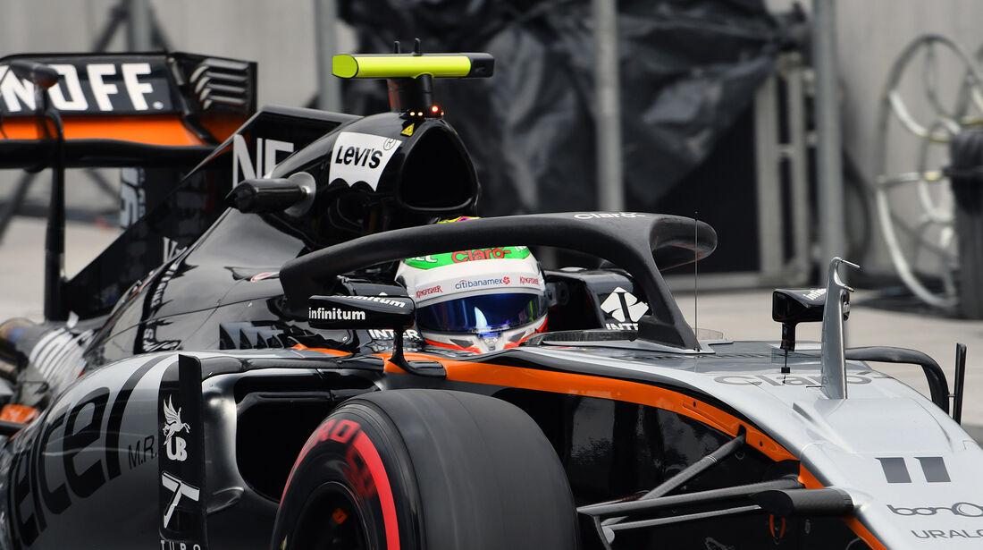 Force India - Halo-Test - Formel 1 - 2016
