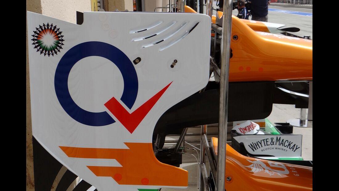 Force India Heckflügel - Formel 1 - GP Bahrain - 20. April 2012