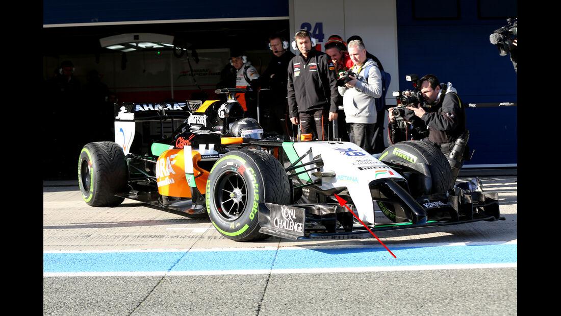 Force India - Jerez-Test - Formel 1 - 2014