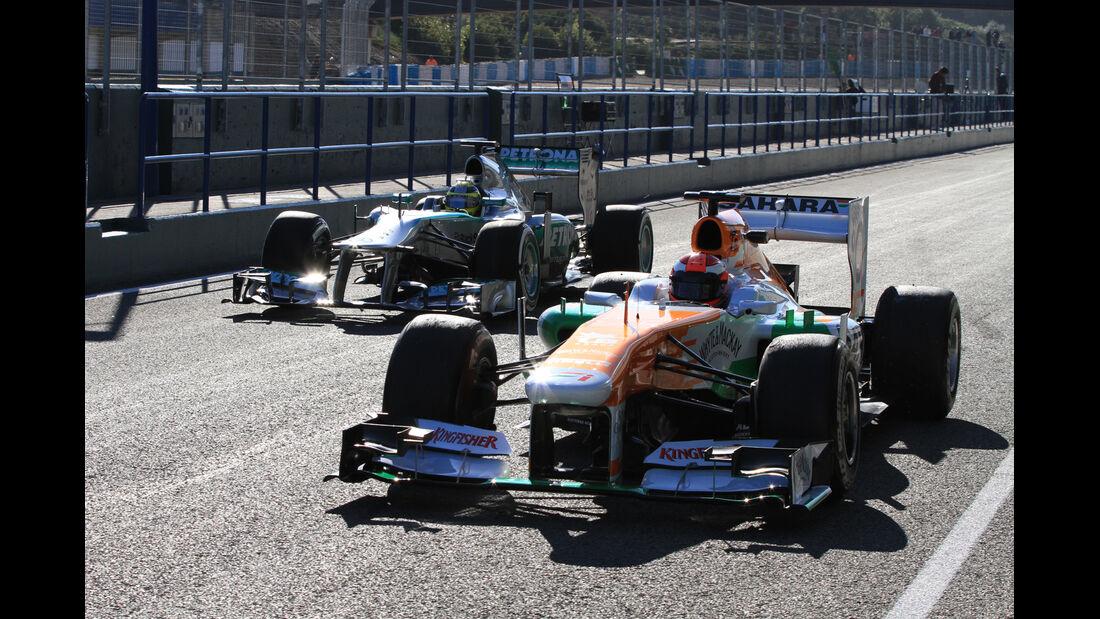 Force India & Mercedes F1 Test Jerez 2013 Highlights