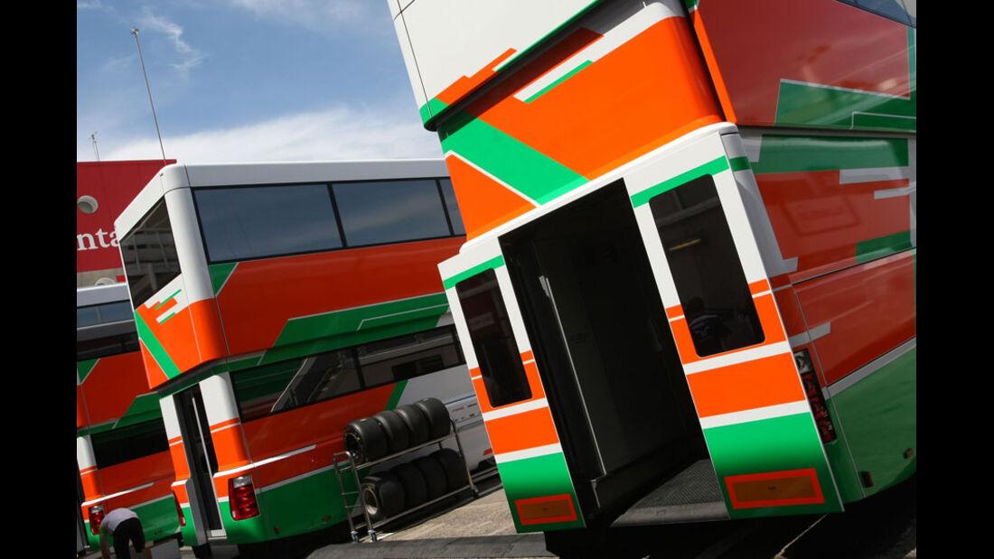 Force India-Motorhome