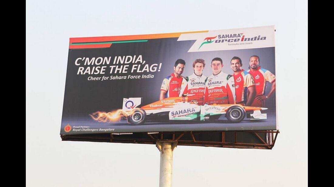Force India Plakat - Formel 1 - GP Indien - 26. Oktober 2012