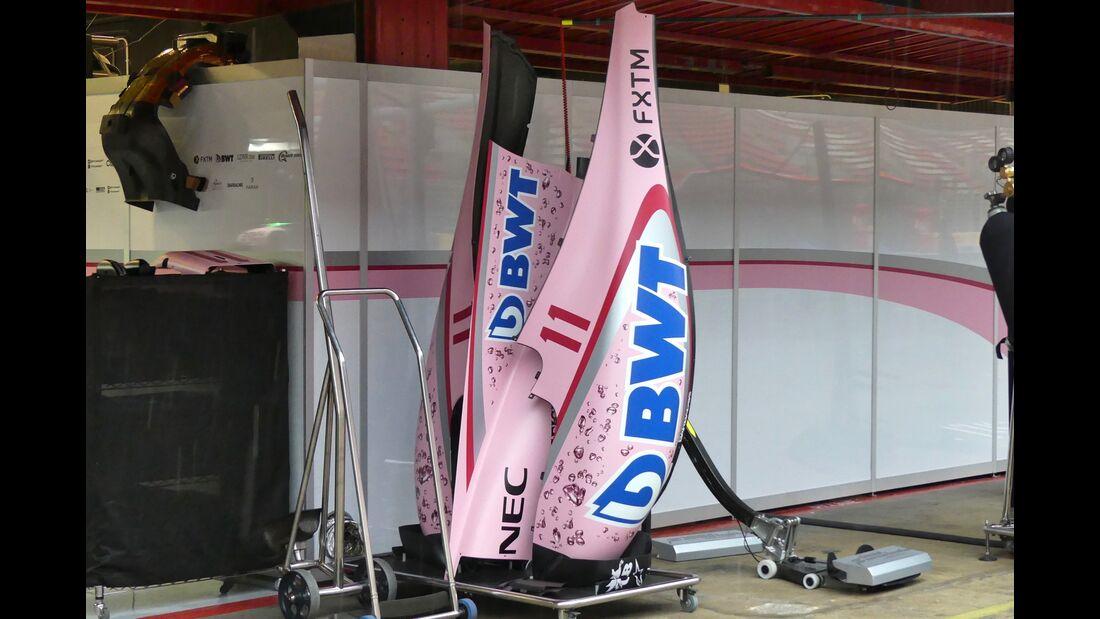 Force India - Startnummern - Formel 1 - GP Spanien - 11. Mai 2017