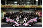 Force India Teamfoto - Formel 1 - GP Abu Dhabi  -24. November 2018