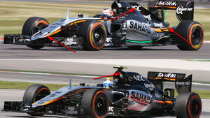 Force India Technik - B-Version - GP England 2017