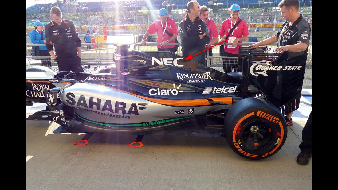 Force India Technik - B-Version - GP England 2023