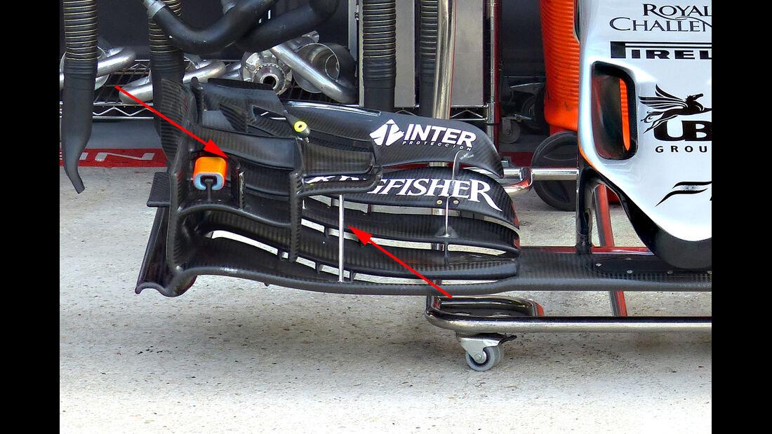 Force India - Technik - GP Belgien 2015