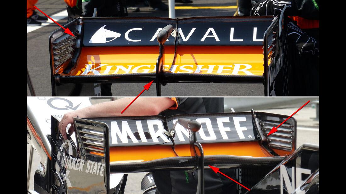 Force India - Technik - GP Mexiko / GP USA - 2015