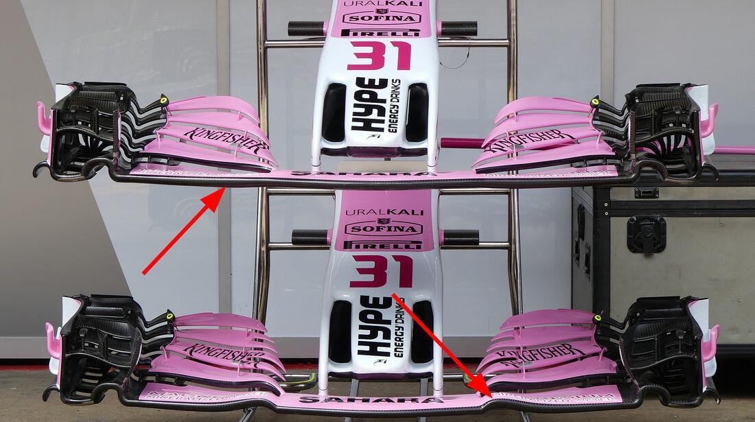 Force India - Technik - GP Spanien 2018
