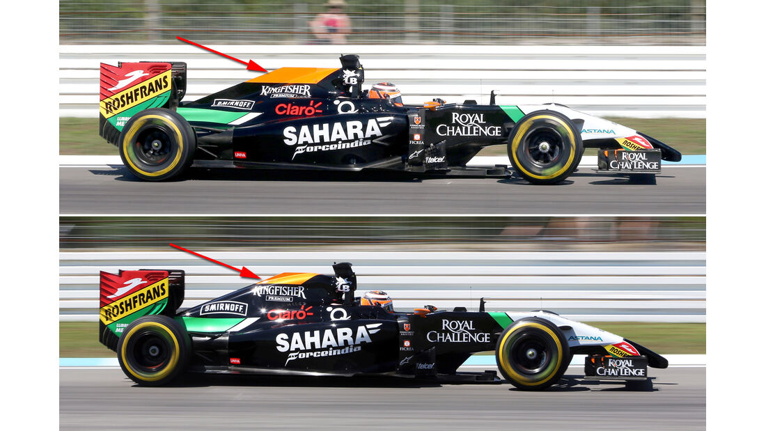 Force India - Technik - GP Ungarn/GP Deutschland 2014