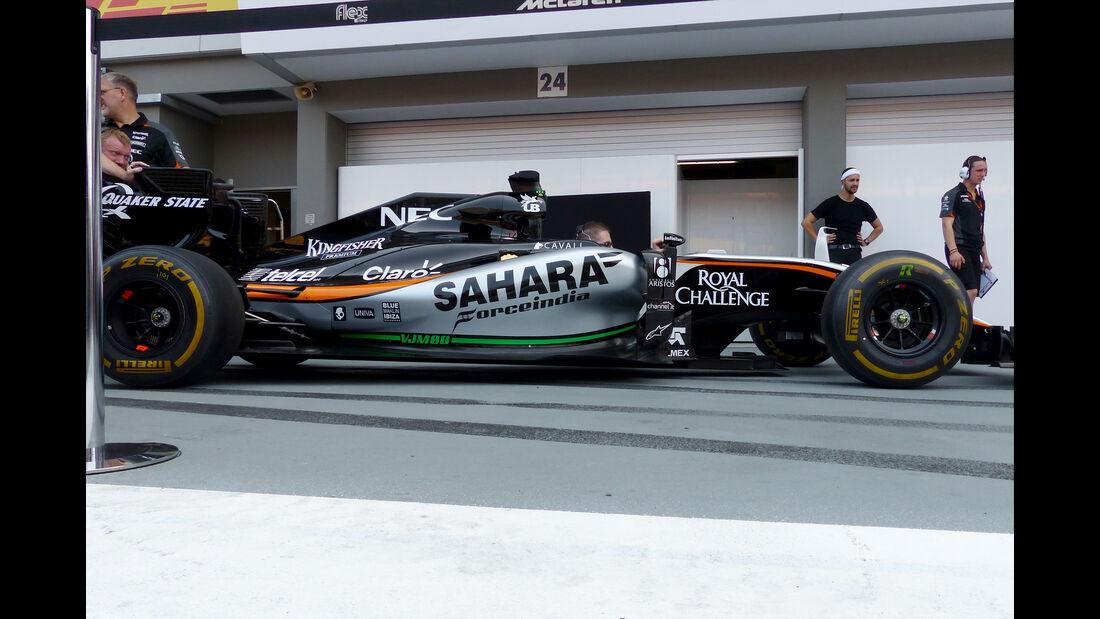 Force India - Technik - Unterboden-Schlitze - Formel 1 - 2015