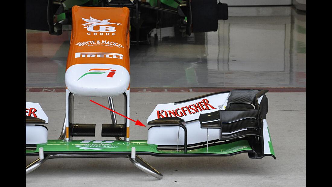 Force India - Technik - Y250 - Frontflügel - 2013