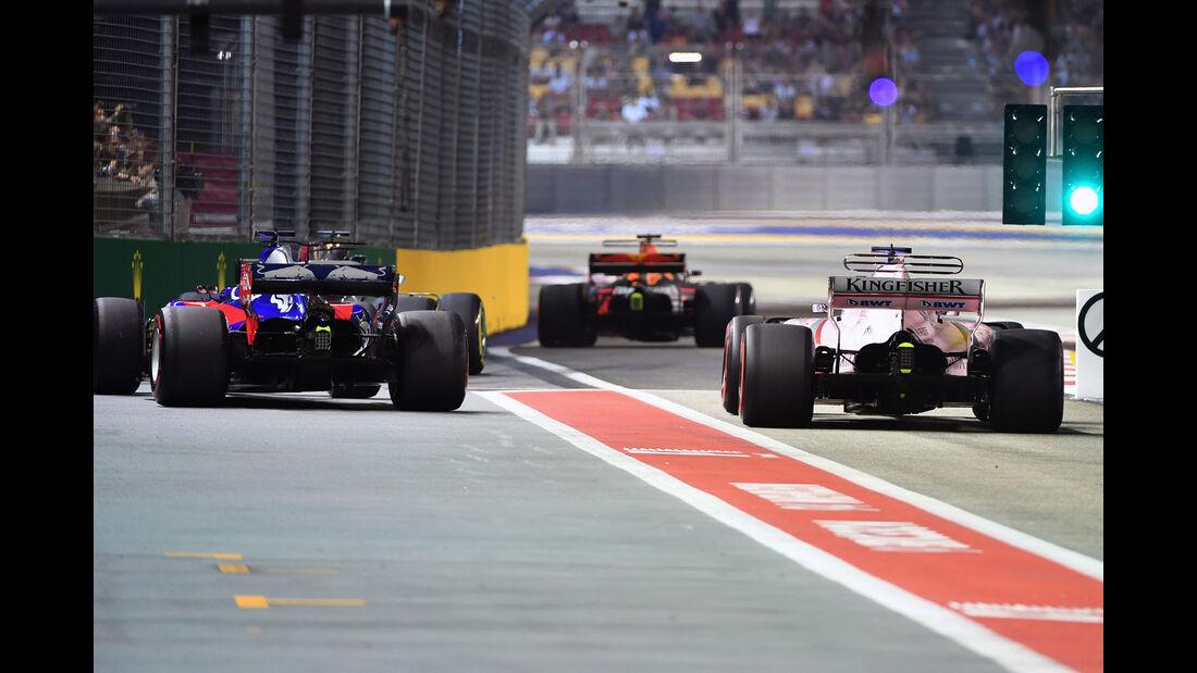 Force India - Toro Rosso - Red Bull - GP Singapur - Formel 1 - Freitag - 15.9.2017