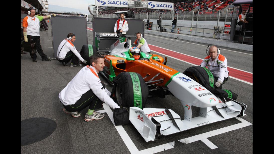 Force India VJM04 Di Resta Formel 1 Test Barcelona 2011