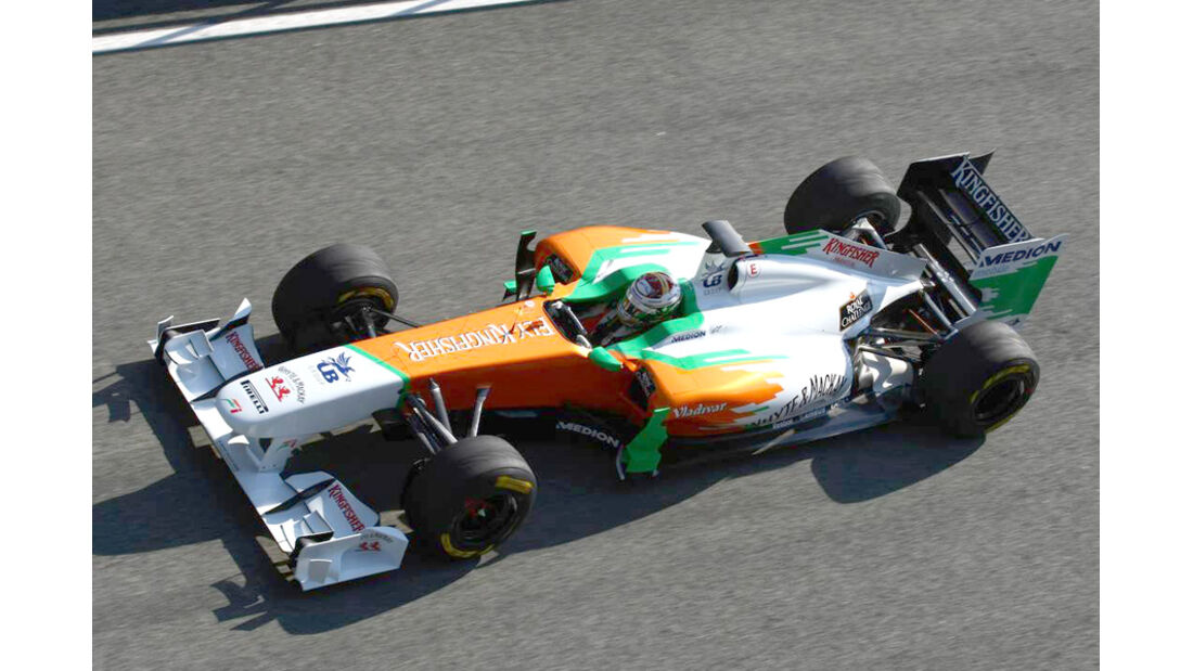 Force India VJM04 Sutil Test 2011