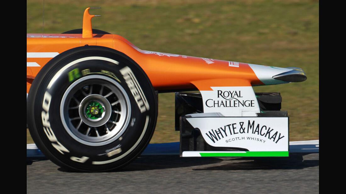 Force India VJM05 Formel 1 Nase Jerez 2012