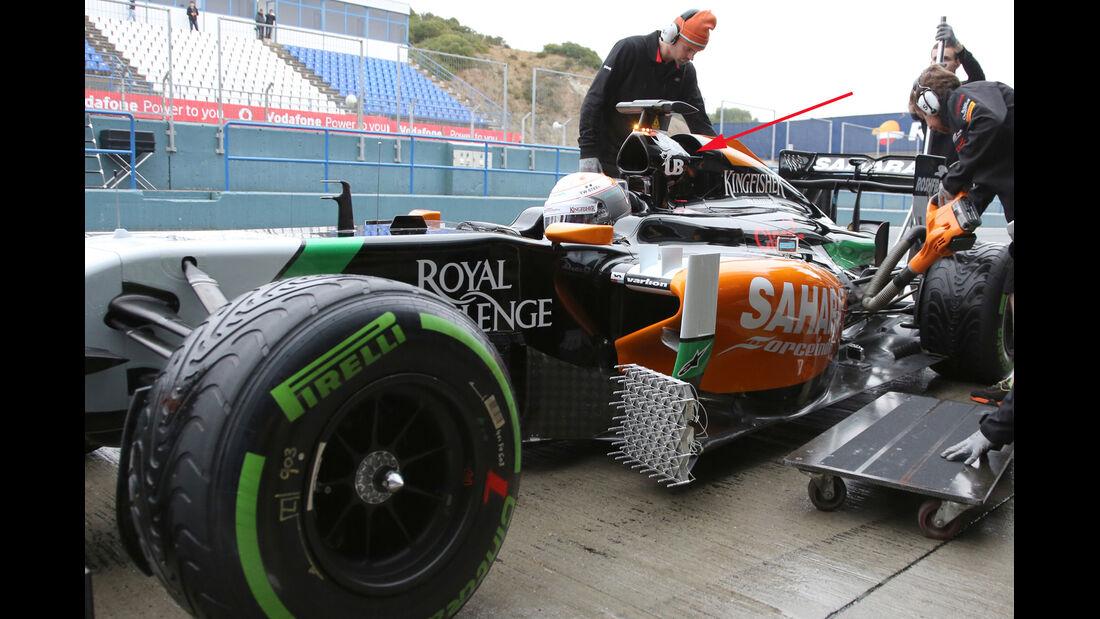 Force India VJM07 - F1-Technik-Check 2014